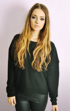 Boxy Jumper In Black
